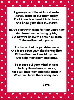 A Classroom Welcome Letter To Parents