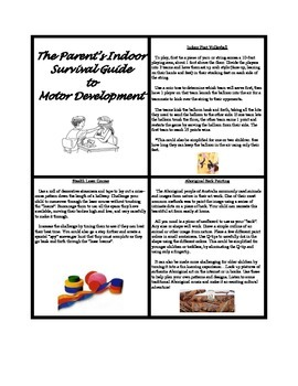 Parent's Indoor Survival Guide to Motor Development