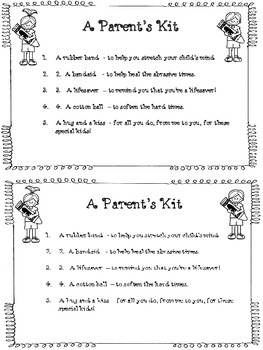 Parent's Kit -freebie  for open house