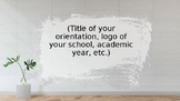 Parents' Orientation Powerpoint Template and Background