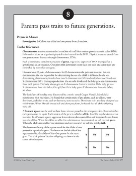 Parents Pass Traits to Future Generations