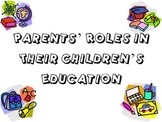 Parent's Role in their Child's Education Powerpoint for FCS Child Development