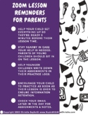 Parents' Zoom Cheatsheet for Distance Learning/Online Musi