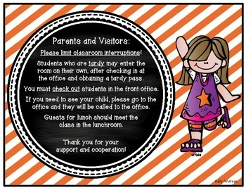 Parents and Visitor Note