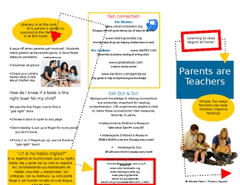 Parents are Teachers Family Literacy Brochure in WORD