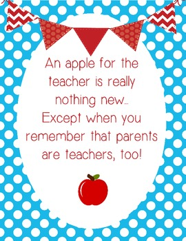 Parents are Teachers too Orientation Night Sign