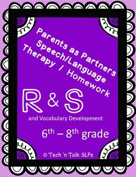 Parents as Partners - Middle School Therapy & Homework for R, S and Vocabulary
