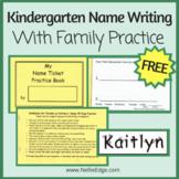 Kindergarten Name Writing Practice Book