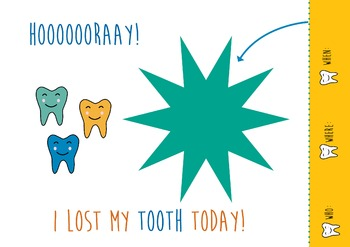 Parents communication - Card - I lost my tooth today