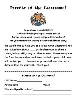 Parents in the Classroom