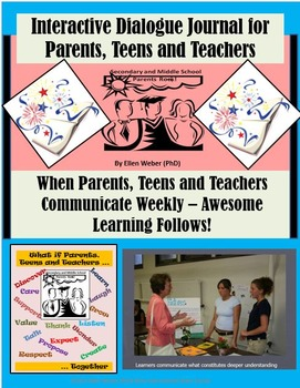 Interactive Dialogue Journals for Parents, Teens and Teachers!