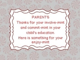 Parent's thanks for your involve-mint