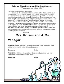 Parent/student contract