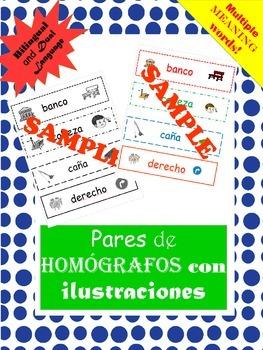 TEK 3.4B and 4.2 B: Pares de Homografos / Homographs in Spanish