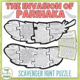 Parihaka Reading Comprehension Scavenger Hunt Puzzle FREE