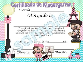 Paris Achievement award English / Spanish version