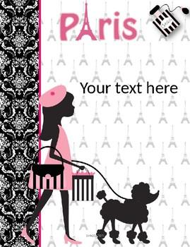 Paris Binder Covers Editable!!!