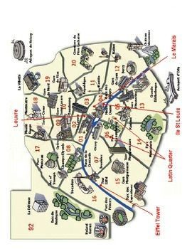 Paris City Landmark Identify Worksheet