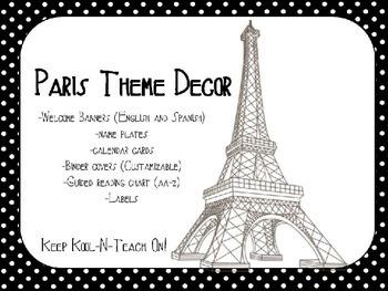 Paris Classroom Decor