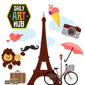Paris Clip Art - Great for Art Class Projects!