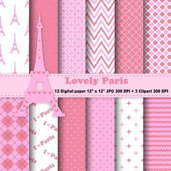 Paris Digital Paper + Clipart