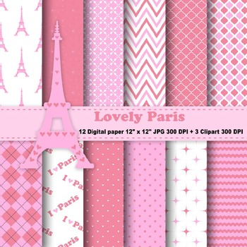 Paris Digital Paper + Clipart