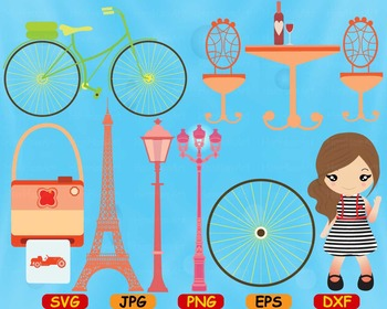 Paris Eifel Tower Love cut Clip Art svg school French valentine's day flag -75S