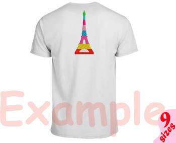 Paris Eiffel Tower Embroidery Design Buildings City World love france 165b