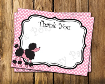 Paris Flat Thank You Note Cards