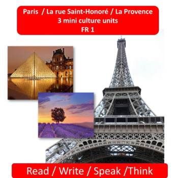 Paris (1) / La rue Saint-Honoré (2)/ La Provence (3); mini thematic units - FR 1