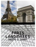 Paris Landmarks Clipart (For Personal or Commercial Use)