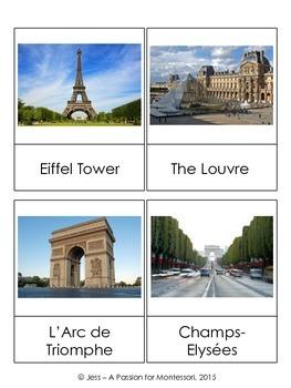 Paris Landmarks Sights Classified Cards Set of 24
