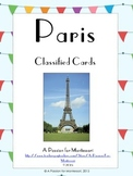 Paris Landmarks Sights Classified Cards Set of 24