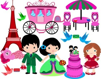 Paris Love Clip Art wedding valentine Prince teddy bear gi