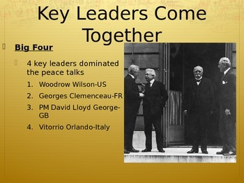 Paris Peace Conference PowerPoint