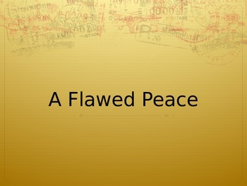 Paris Peace Conference PowerPoint