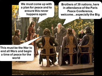 The Lord of the Rings Paris Peace Conference & Treaty of Versailles