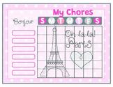 Paris Printable Chore Chart