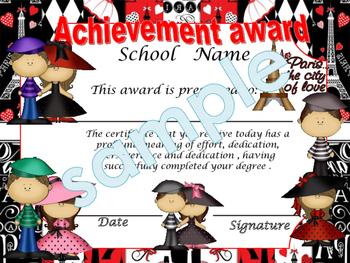 Paris (Red)  Achievement award English / Spanish version