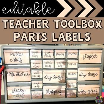 Paris Teacher Toolbox Labels