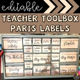 Paris Teacher Toolbox Labels