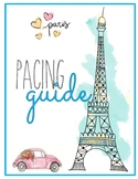 Paris Template for PACING GUIDE, Scope & Sequence, Curriculum Mapping.