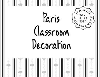 Paris Theme Classroom Decoration Pack