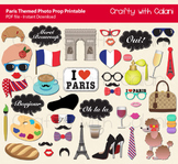 Paris Themed Photo Booth Prop Printable