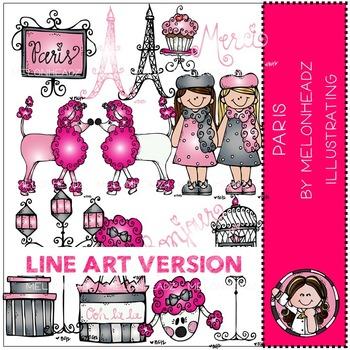 Paris by Melonheadz LINE ART
