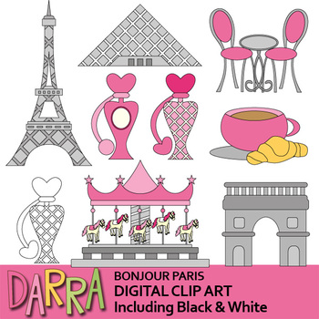 Paris Clipart Bonjour Paris Clip Art France Monuments