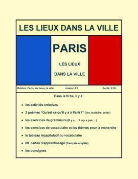 Paris, les lieux dans la ville, FLE, A1 - Paris, town and city places, FSL, A1