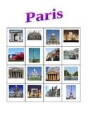 Paris monuments Bingo