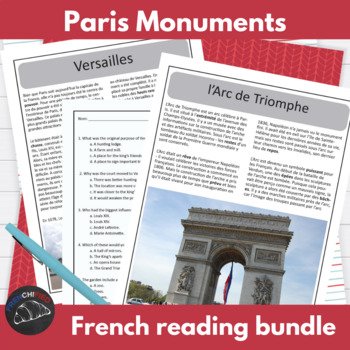 Paris monuments - reading bundle
