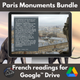 Paris monuments - reading bundle for Google Drive